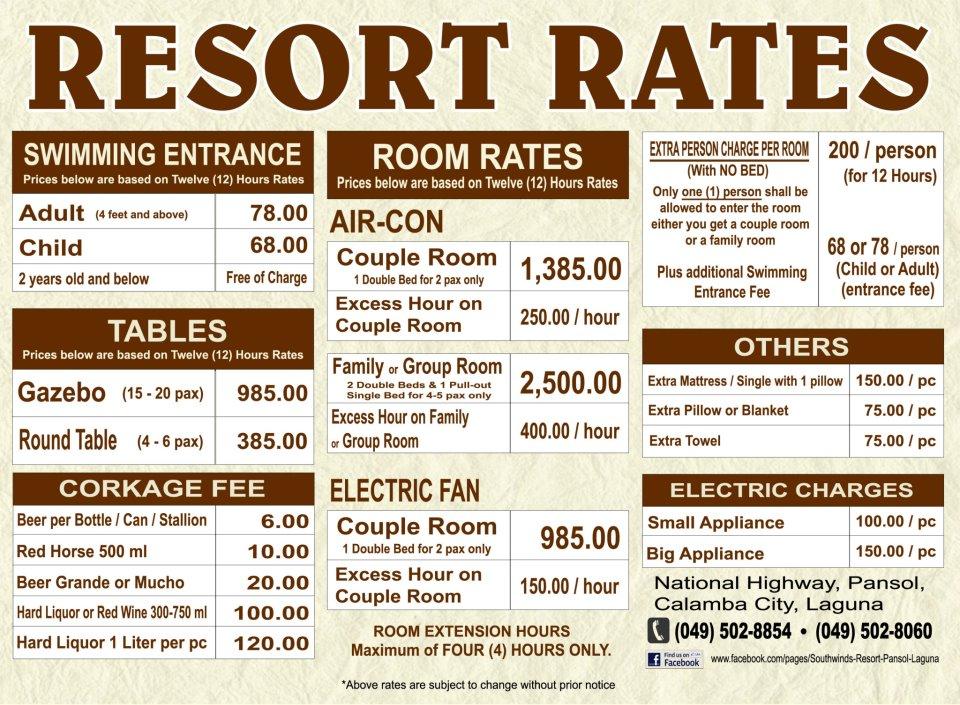 Be Resort Room Rates